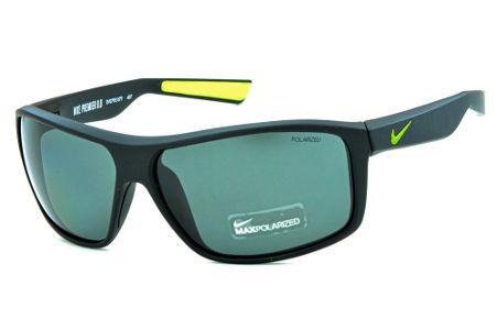 6bffaefc87a99 Óculos de Sol Nike Premier 8.0 EV0793 Preto fosco com lente polarizada e  detalhes verde fluorescente