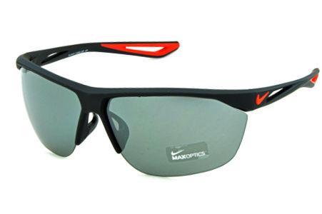 1f287519b Óculos de Sol Nike Tailwind EV0915 Preto fosco com lente semi espelhada e  detalhe vermelho