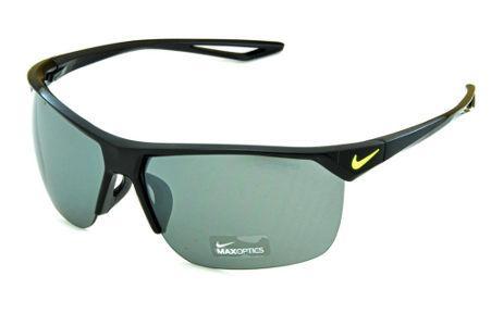 Óculos de Sol Nike Trainer EV0934 Preto brilhante com logo verde  fluorescente e lente semi espelhada 559f843e53