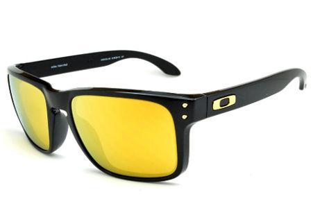 ad387252a367d Óculos de sol Oakley OO9102L Holbrook Shaun White preto e lente amarela