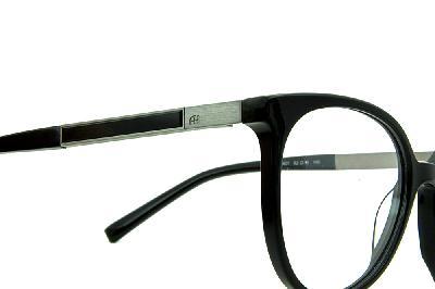 ... Óculos Ana Hickmann AH6230 preto redondo com haste giratória cinza 48188bb554