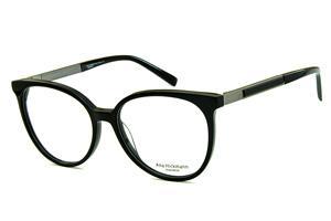 Óculos Ana Hickmann AH6230 preto redondo com haste giratória cinza 46a9c79321