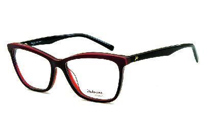 22a32ca2b9ffc Óculos Ana Hickmann HI6013 preto e roxo em acetato quadrado ...
