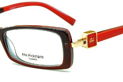 Óculos Ana Hickmann AH6229 acetato vermelho com haste giratória 3024ca927e