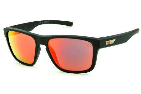 eca48a49b9da4 Óculos HB 90112 H-BOMB Preto fosco e lente vermelha espelhada edição Tony  Kanaan