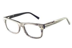 Óculos Ilusion acetato efeito madeira grafite com haste flexível de mola 96d5c8d5e1