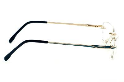 c57e1e5fa ... Óculos Ilusion dourado modelo parafusado com haste azul marinho e  dourado ...