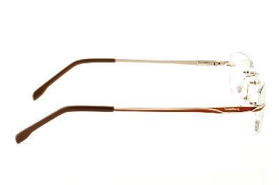 0d6c51b805c46 ... Óculos Ilusion dourado modelo parafusado com haste marrom e dourado + Lentes  grátis ...