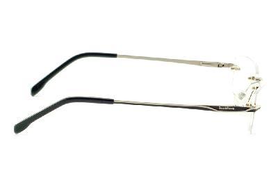 7a8b27e16 ... Óculos Ilusion prata modelo parafusado com haste preto e prata + Lentes  grátis ...