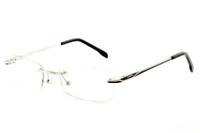 c3e11148f Óculos Ilusion prata modelo parafusado com haste preto e prata ...