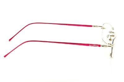 c6c585714 ... Óculos Ilusion prata modelo parafusado com haste vermelha + Lentes  grátis ...