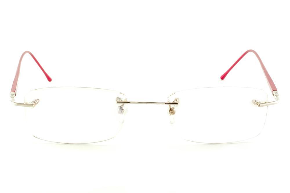 008953db9 Óculos Ilusion BA2047 dourada modelo parafusado haste vermelha
