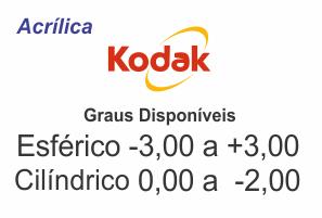 d27a23b676 Lente Kodak Acrílica com Anti Reflexo Grau Esférico -3,00 a +3,