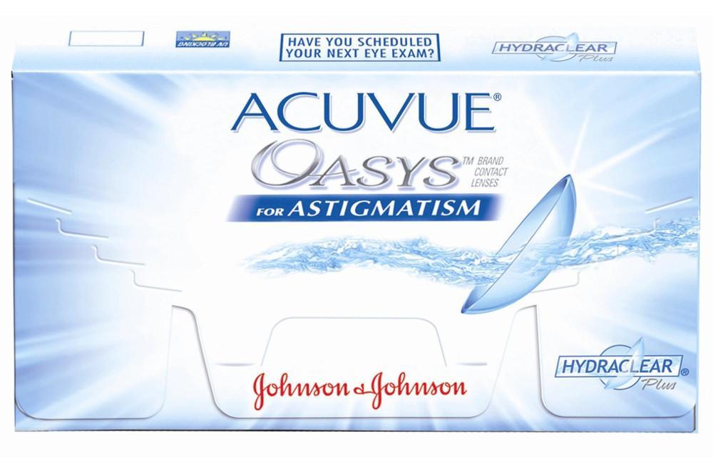 817ad80332 Lente de contato Acuvue Oasys Tórica kit com 6 lentes Esf. -6,00 a +4,50 /  Cil. -0,75 a -3,00
