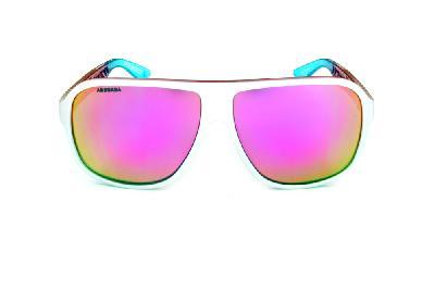 ... Óculos Absurda Calixto branco multicor com lente violeta amarela  espelhado ... 8c3d2cbe5c