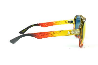 ... Óculos Absurda Calixtin preto multicor com lente vermelha amarela  espelhado ... 8123d78009