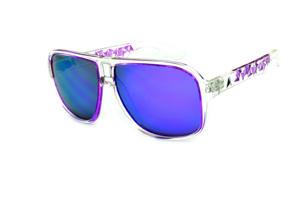 98be4a3d15509 Óculos Absurda Calixtin transparente com lente violeta roxo espelhado