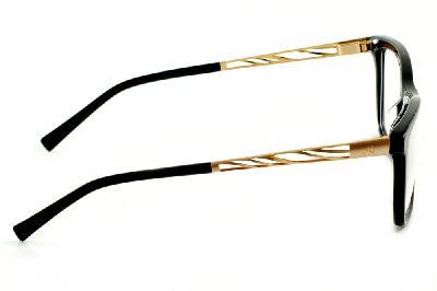 60b02ad1ec1a4 ... Óculos de grau Ana Hickmann AH6213 quadrado preto com haste dourada