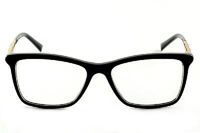 9cf66304df465 ... Óculos de grau Ana Hickmann AH6213 quadrado preto com haste dourada ...