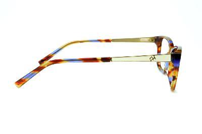 ... Óculos Ana Hickmann AH6217 acetato marrom caramelo e azul royal com  haste branca e dourado 34d2de5e65
