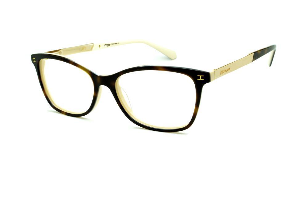 Óculos Ana Hickmann HI6014 acetato marrom com haste metal dourada f6f28eb04f
