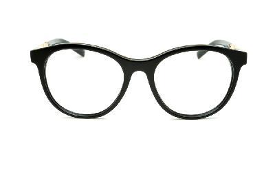 ... Óculos Ana Hickmann AH6233 redondo em acetato preto com haste dourada  ... d46e7078b7