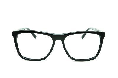 7bd63201757cb ... Óculos Ana Hickmann AH6232 acetato preto com haste grafite giratória ...