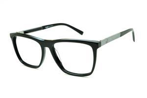 613e7c3d5 Óculos Ana Hickmann AH6232 acetato preto com haste grafite giratória