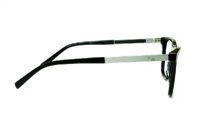 1dc9da489984e ... Óculos Ana Hickmann AH6232 acetato preto com haste grafite giratória