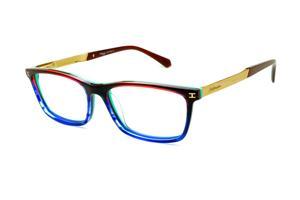 Óculos Ana Hickmann HI6015 azul neon verde vinho com haste dourada flexível  de mola eed31242d6
