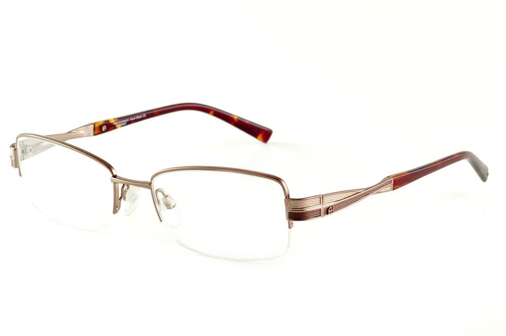 Óculos Ana Hickmann AH1256 fio de nylon bronze com ponteira onça 1ba1aadaf3