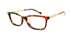 Óculos Ana Hickmann AH6220 demi tartaruga efeito onça com haste dourada 1c166157ab