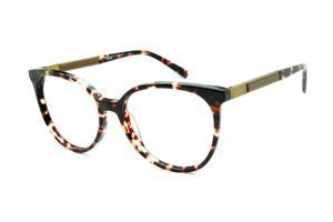 61ca4f846fca5 Óculos Ana Hickmann AH6230 tartaruga efeito onça com haste giratória dourada