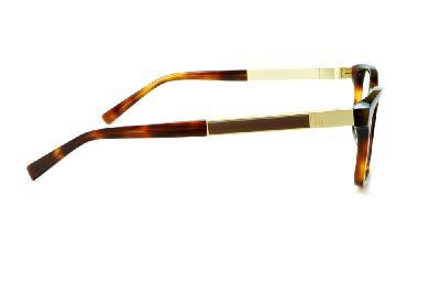 Óculos Ana Hickmann AH 6234 tartaruga onça e haste dourada marrom a45762bd68
