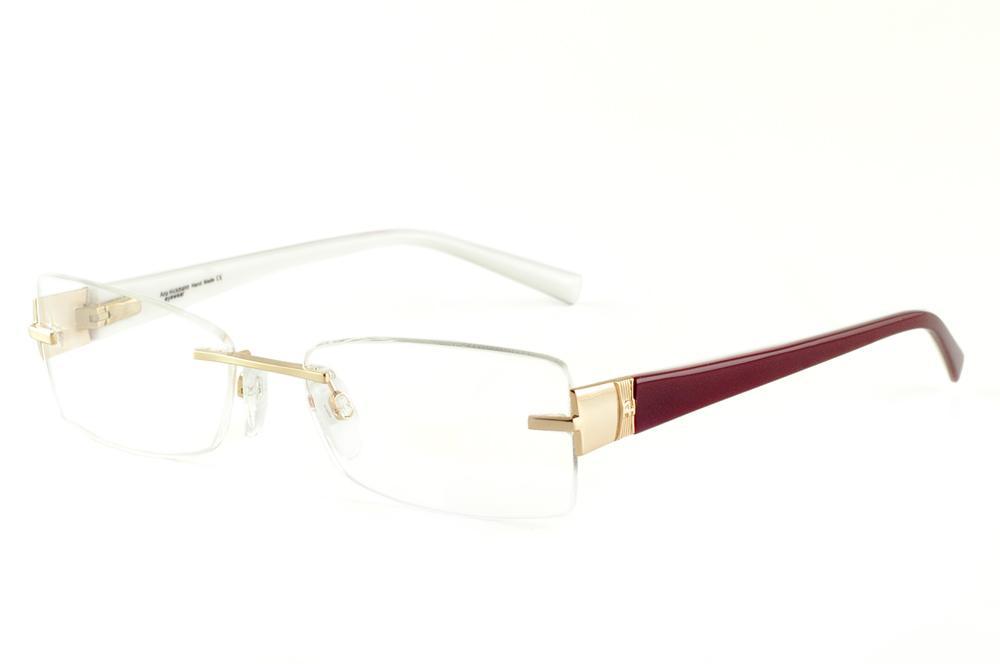6bb6e686b Óculos Ana Hickmann AH1239 dourado com haste vinho e branco parafusado