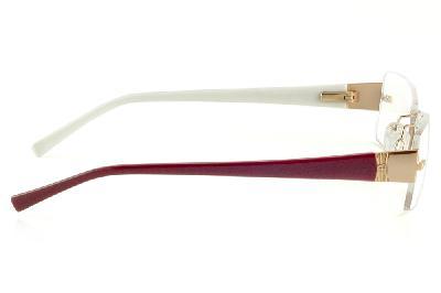 ... Óculos Ana Hickmann AH1239 dourado com haste vinho e branco parafusado 53cb6d203e