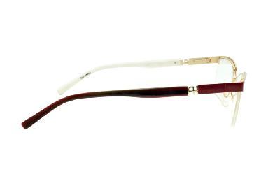 bc27e14abc508 ... Óculos Ana Hickmann AH1237 dourado e marrom café e AH dourado com haste  flexível de mola