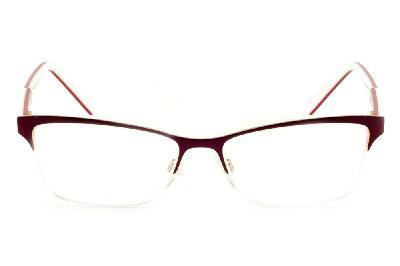 ... Óculos Ana Hickmann AH1224 modelo gatinho vinho dourado com haste branca vermelha  flexível de ... 62230af937