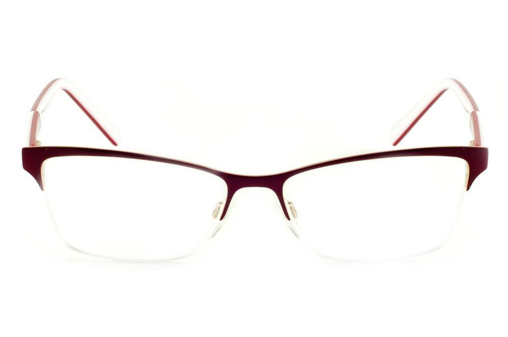 39076827858be Óculos Ana Hickmann AH1224 gatinho vinho dourado haste branca vermelha