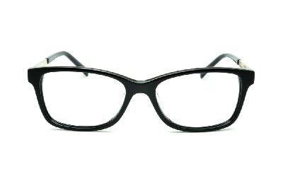 ... Óculos Ana Hickmann AH6217 preto com haste dourada flexível de mola ... a47710d43d