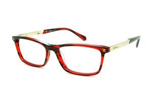 6c5a07fa17d18 Óculos Ana Hickmann HI6015 vermelha efeito estampa com haste dourada  flexível de mola