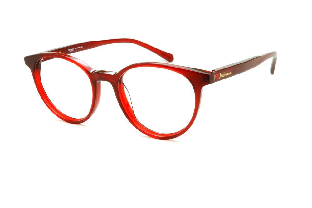 3c75446f9c45d Óculos Ana Hickmann HI6018 vermelho com haste flexível de mola