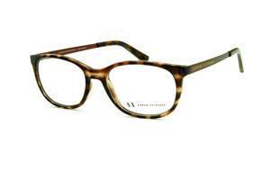 24d5bad723941 Óculos Armani Exchange AX3005 tartaruga efeito onça com hastes metal marrom  e emblema amarelo