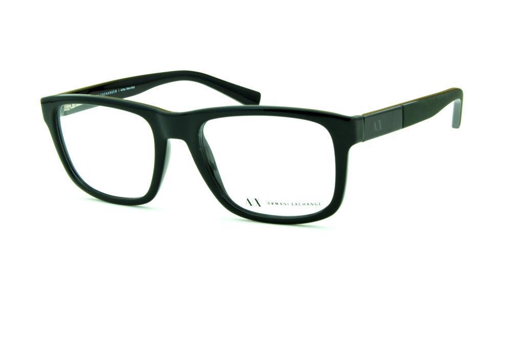 9753ef066b3d5 Óculos Armani Exchange AX 3025 preto e haste cinza