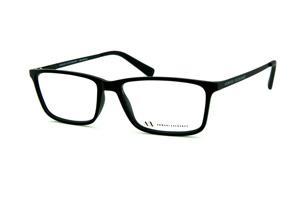 2757a3c89db Óculos Armani Exchange AX3027 preto fosco com hastes metal prata e logo  preto