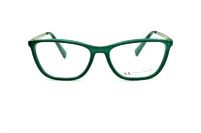 b123130f7 ... Óculos Armani Exchange AX3028 verde com hastes metal cinza com logo  verde ...