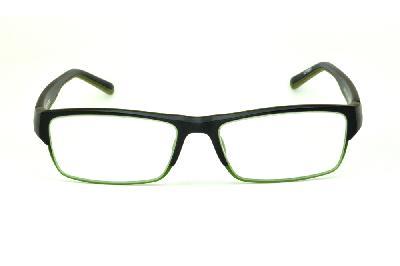 259903a5d12b5 ... Óculos Atitude TR90 preto com haste preta e detalhe em verde musgo ...