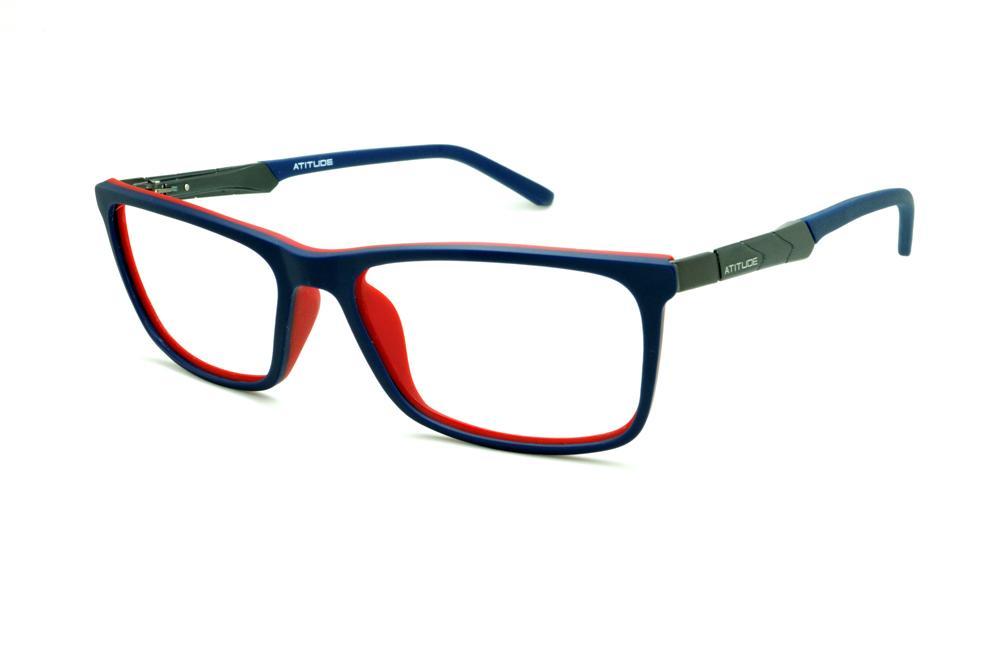28af931504a4c Óculos Atitude AT4001 azul royal e vermelho