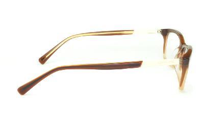 c67d0f1723890 ... Óculos Atitude em acetato caramelo mesclado e detalhe palha com haste  flexível de mola ...