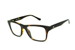 26f83704f0bc2 Óculos Atitude em acetato cor demi tartaruga efeito onça com haste flexível  de mola